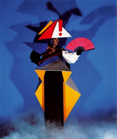 Robe de maternité d'inspiration constructiviste, en collaboration avec Antonio Lopez, New York, 1980.jpg